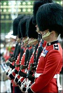 Coldstream Guards at Buckingham Palace, London