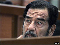 Saddam Hussein in court on 11 September 2006