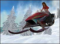 Virtual snowmobile riding, Linden Research