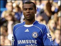 Ashley Cole in action for Chelsea