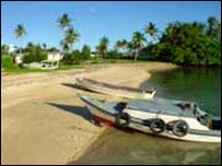 A Tongan beach