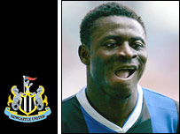 Newcastle striker Obafemi Martins