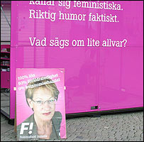 Election poster for Feminist Initiative