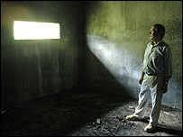 Peter Taylor inside a former prison for jihadis in the Philippines