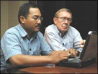 Nasir Abbas with reporter Peter Taylor