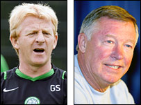 Gordon Strachan and Sir Alex Ferguson
