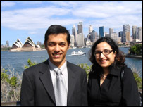 Shantanu Chakraborty and Nishita Bhansali in Sydney