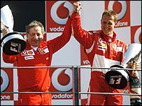 Ferrari director Jean Todt (left) and Michael Schumacher
