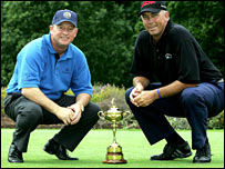 Ryder Cup captains Ian Woosnam and Tom Lehman