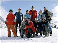 Dr Freer (front row, 2nd from left), Dr Johnson (front row, 3rd from left) with their medical team.