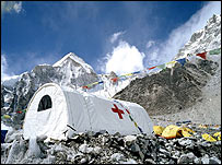 The clinic at Everest Base Camp, Nepal