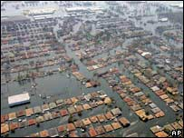 Flooded New Orleans.  Image: AP