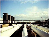 Gas pipelines in the UK