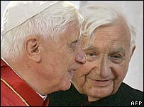 Pope Benedict with brother Georg