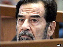Saddam Hussein in court on 12 September 2006