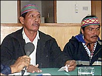 Achuar community leaders