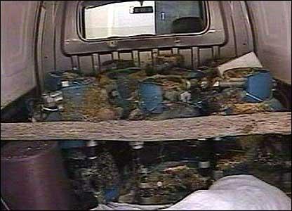 Contents of van at blast scene