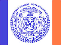 Part of New York City flag