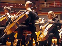 Cellists from the Birmingham Symphony Orchestra