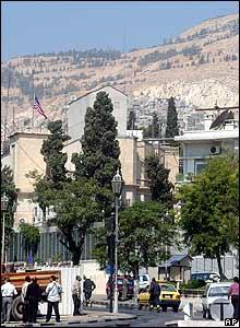 US embassy in Damascus on 12 September