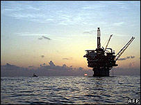 Oil platform in Gulf of Mexico