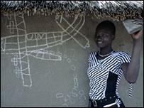 Mary, a Sudanese schoolgirl