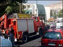 Syrian emergency services at scene of clash