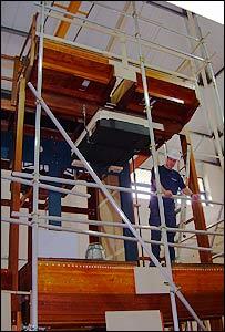 Restoration work on Royal Festival Hall organ at Harrison & Harrison