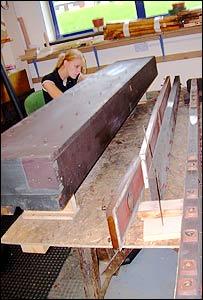 Harrison & Harrison employee in County Durham workshop