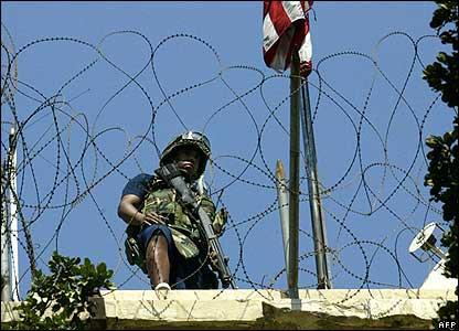 US guard at the embassy