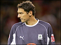 Plymouth goalkeeper Romain Larrieu