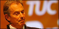 Tony Blair at the TUC conference