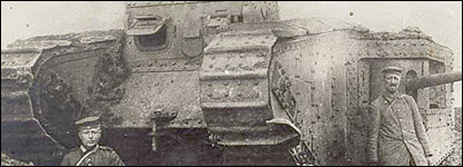 German photo of a British tank