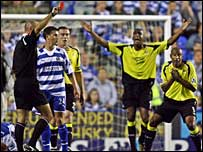 Ousmane Dabo was red carded at Reading