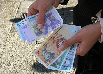Danish and Swedish money