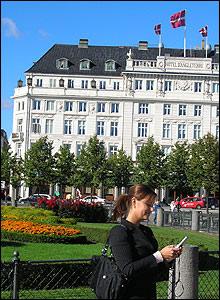 Maria Christensen in central Copenhagen