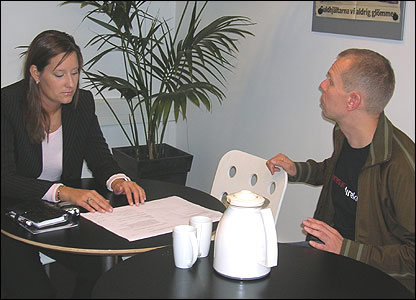 Maria Christensen in second business meeting