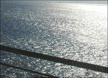 View of sea from Oresund bridge
