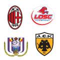 Escudos de los equipos en el Grupo H.