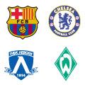 Escudos de los equipos en el Grupo A.
