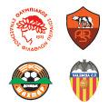 Escudos de los equipos en el Grupo D.