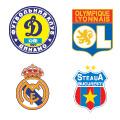 Escudos de los equipos en el Grupo E.