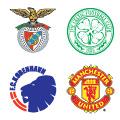 Escudos de los equipos en el Grupo F.