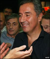 Montenegrin Prime Minister Milo Djukanovic