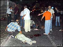 Aftermath of the Diyarbakir blast