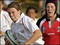 England's two-try hero Charlotte Barras