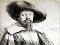 Rembrandt's sketch of Menasseh Ben Israel
