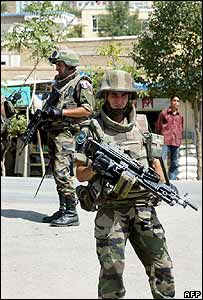 French Isaf troops in Afghanistan