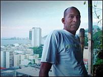 Louis Bento in his home above Copacabana