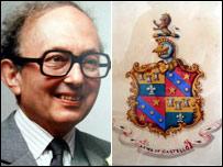 Simon Castello and his family coat of arms